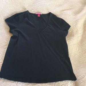 Liz Lange Target Maternity Medium Black V Neck Top